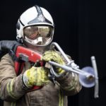Firefighters cut through doors and walls with new technology