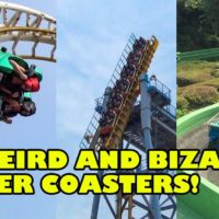10 WEIRD & BIZARRE Roller Coasters of Asia! Front Seat POVs!