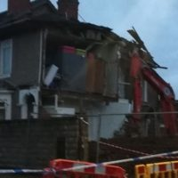 Live: Road closed after house 'collapses'