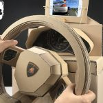 How to Make lamborghini Gaming Steering Wheel from Cardboard
