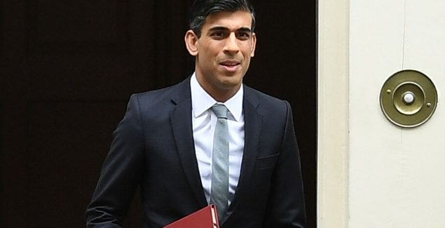 Chancellor of the Exchequer, Rishi Sunak leaves number 11, Downing Street on July 8, 2020 in London, England.