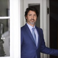 Prime Minister Justin Trudeau holds a COVID-19 briefing at Rideau Cottage in Ottawa on July 13, 2020.