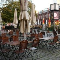 First day of the temporary closing of restaurants in Berlin