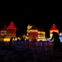 China 'mines' ice from river to build frozen castles, pagoda   Lifesty...